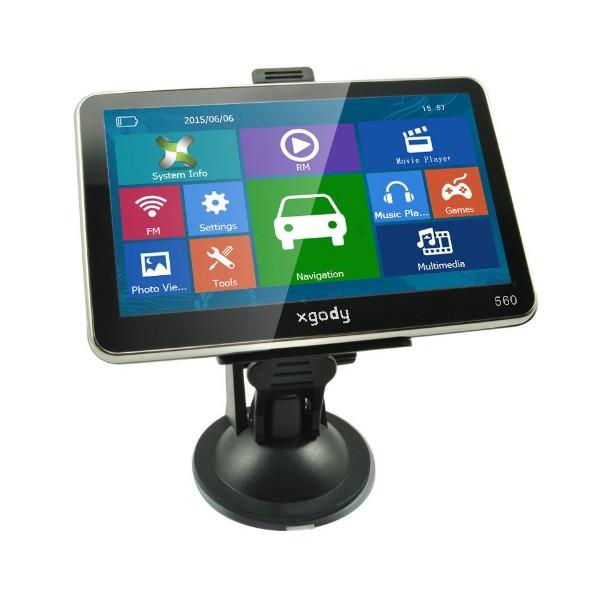 5 инчова GPS навигация за камион XGODY 560 с Bluetooth, карти от 2016 година 3