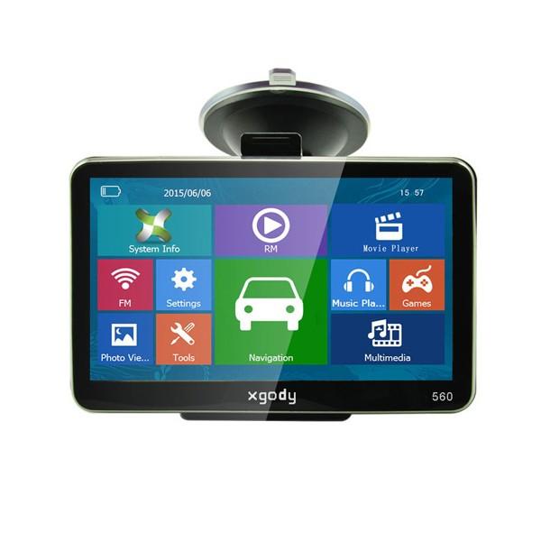 5 инчова GPS навигация за камион XGODY 560 с Bluetooth, карти от 2016 година 10