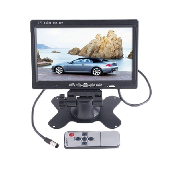 Монитор за кола с 7 инча LCD дисплей, HD 800 x 480 p и 2 AV изхода PK LCD2