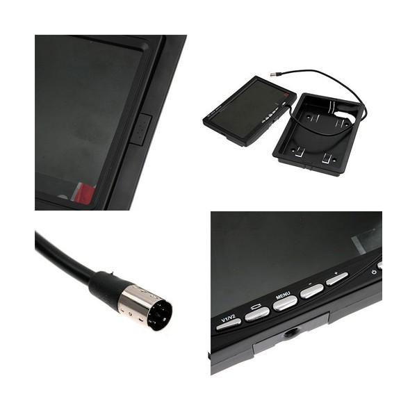 Монитор за кола с 7 инча LCD дисплей, HD 800 x 480 p и 2 AV изхода PK LCD2 4