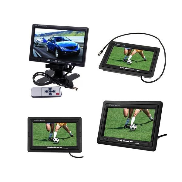 Монитор за кола с 7 инча LCD дисплей, HD 800 x 480 p и 2 AV изхода PK LCD2 5