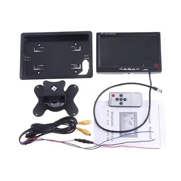 Монитор за кола с 7 инча LCD дисплей, HD 800 x 480 p и 2 AV изхода PK LCD2 11