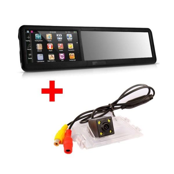 Огледало за обратно виждане с GPS навигация MOONET SONY CCD и задна камера