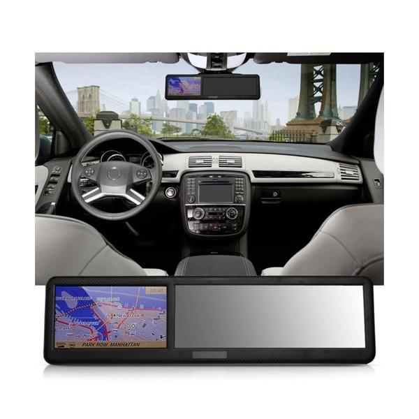 Огледало за обратно виждане с GPS навигация MOONET SONY CCD и задна камера 5