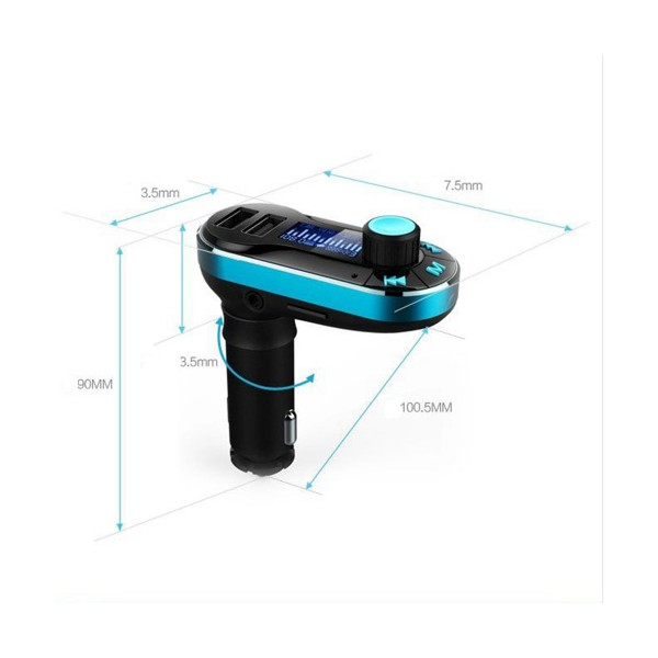 Bluetooth MP3 Player Timloon BT66, 2 USB порта, SD и MMC карта и LED екран HF10 2