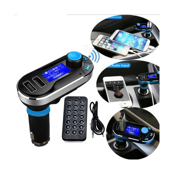 Bluetooth MP3 Player Timloon BT66, 2 USB порта, SD и MMC карта и LED екран HF10 7
