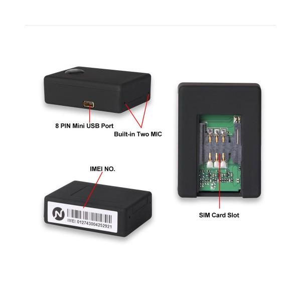 Безжично мини подслушващо устройство със SIM карта и гласов контрол - N9 8