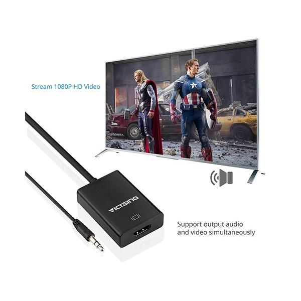 VGA към HDMI 1080P HD Audio TV AV HDTV видео кабел конвертор адаптер CA88 5
