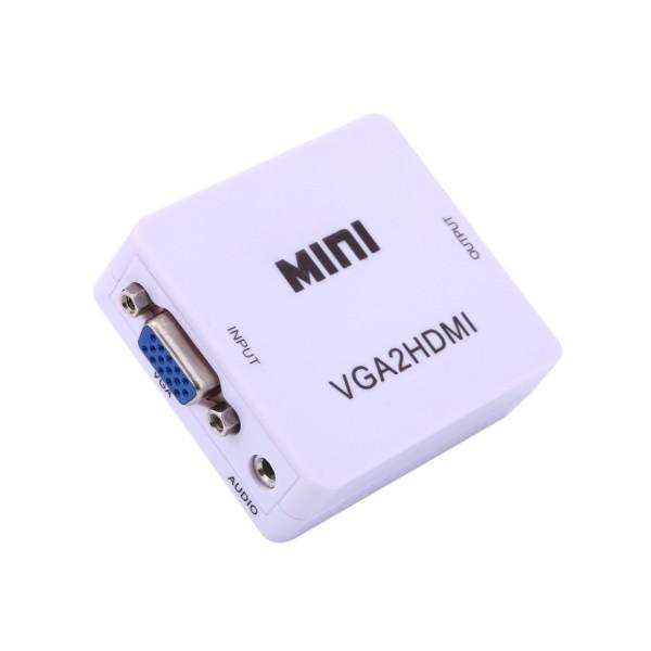 Мини HD 1080 P VGA към HDMI аудио видео адаптер конвертор ,CA86 2