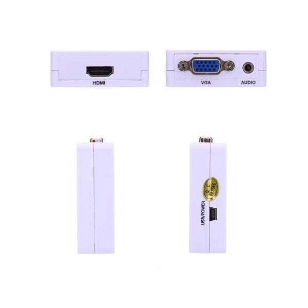 Мини HD 1080 P VGA към HDMI аудио видео адаптер конвертор ,CA86 8