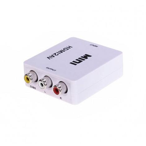 Mini HD Video конвертор HDMI към RCA AV/CVSB L/R Video 720P 1080P HDMI2AV CA85