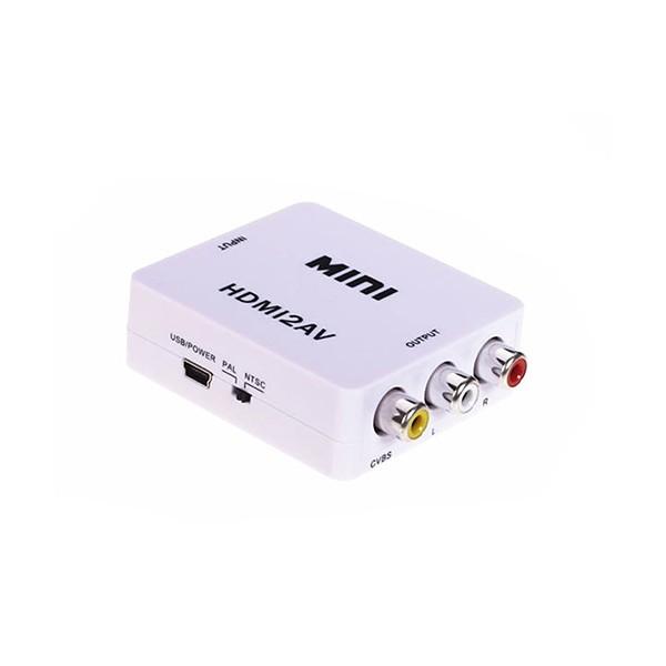 Mini HD Video конвертор HDMI към RCA AV/CVSB L/R Video 720P 1080P HDMI2AV CA85 3