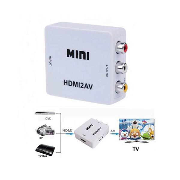 Mini HD Video конвертор HDMI към RCA AV/CVSB L/R Video 720P 1080P HDMI2AV CA85 6