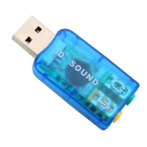 USB звукова карта Vbestlife,CA61 поддържа 3D тонален и виртуален 5.1-канален звук
