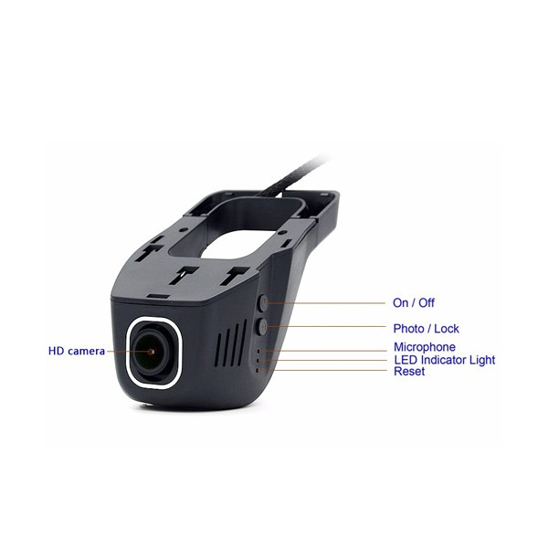 Безжична камера за кола Junsun с WI FI за Android и IOS, 12 MPX HD камера 7