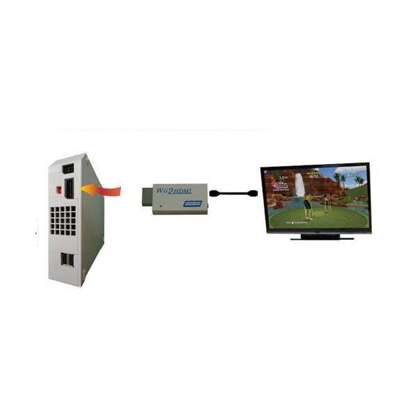 Мини конвертор Wii2HDMI преобразува видео и аудио във digital HDMI формат CA65 7