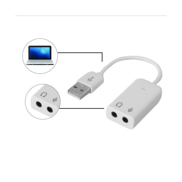 USB 2.0 звукова карта с 3D стерео звук, и 7.1 канален звуков ефект CA60 2
