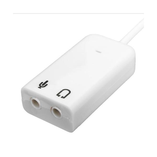USB 2.0 звукова карта с 3D стерео звук, и 7.1 канален звуков ефект CA60 8