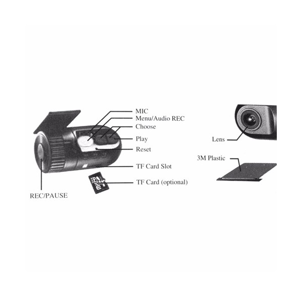 Мини рекордер за автомобил 400mAh HD 1280 * 720P -12Mpx AC38 10