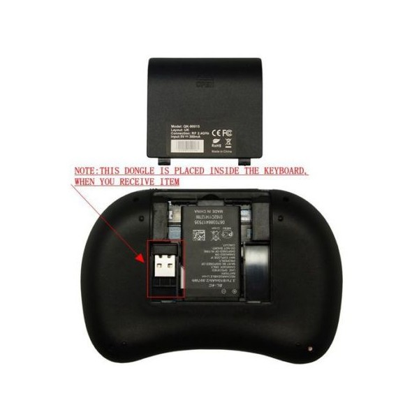 Безжична клавиатура RII 8 MINI за таблети, телевизионни кутии, конзоли и други 4