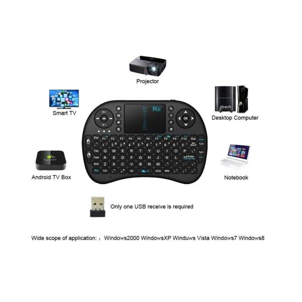 Безжична клавиатура RII 8 MINI за таблети, телевизионни кутии, конзоли и други 5