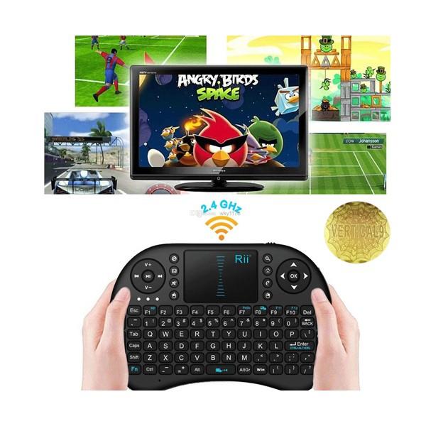 Безжична клавиатура RII 8 MINI за таблети, телевизионни кутии, конзоли и други 6