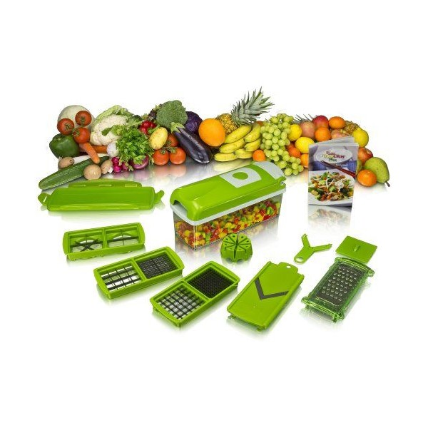 Кухненско Ренде за зеле, моркови с контейнер - Nicer Dicer Plus от 13 частиTV32