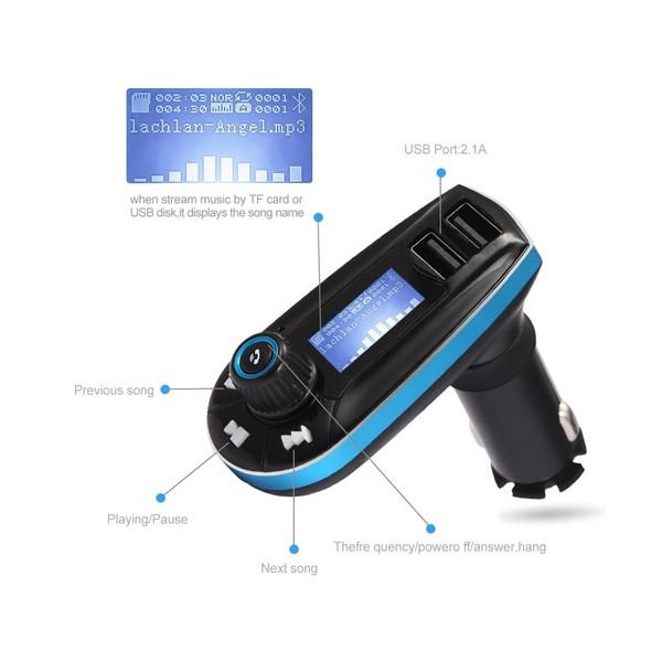 Bluetooth трансмитер за кола - Vodool 618C HF6 3