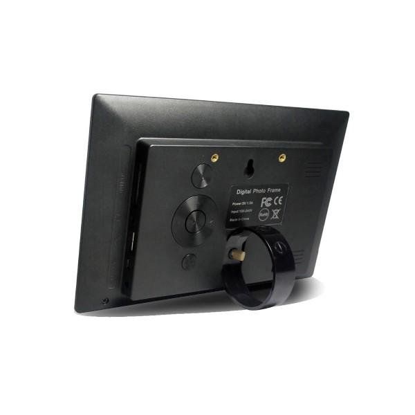 Дигитална фото рамка с 7 инча HD LCD екран и вградени будилник и часовник 2