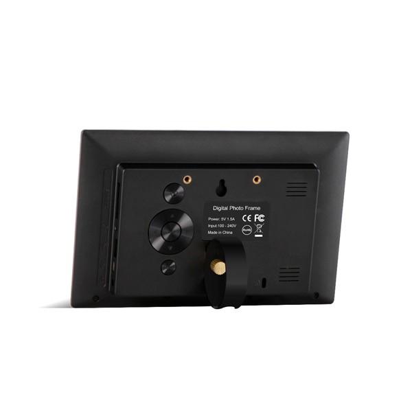Дигитална фото рамка с 7 инча HD LCD екран и вградени будилник и часовник 4