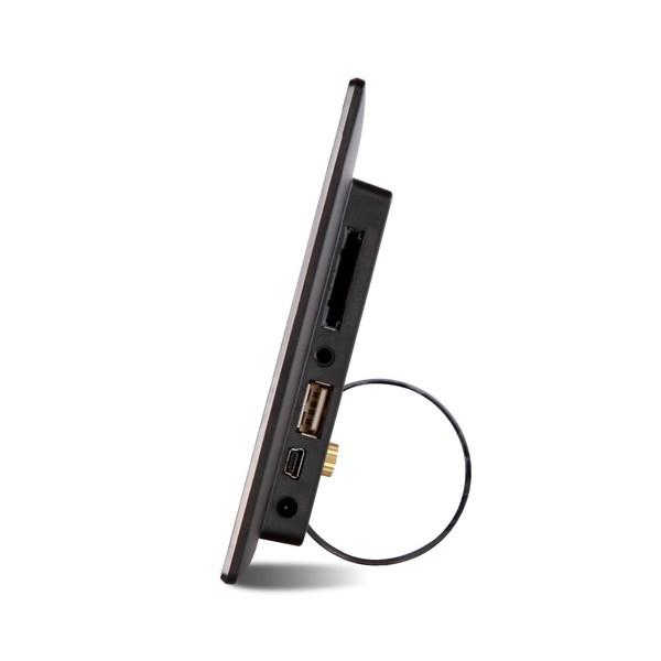 Дигитална фото рамка с 7 инча HD LCD екран и вградени будилник и часовник 6