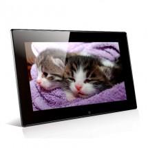 Дигитална фото рамка с 7 инча HD LCD екран вградени будилник и часовник резолюция 800 x 480 px