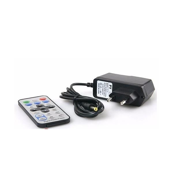 Дигитална фото рамка с 7 инча HD LCD екран и вградени будилник и часовник 10