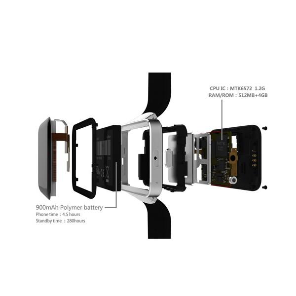"""Смарт фитнес часовник - KOBWA DM98 СИМ карта, камера, 2.2"""" HD IPS LCD екран SMW7 10"""