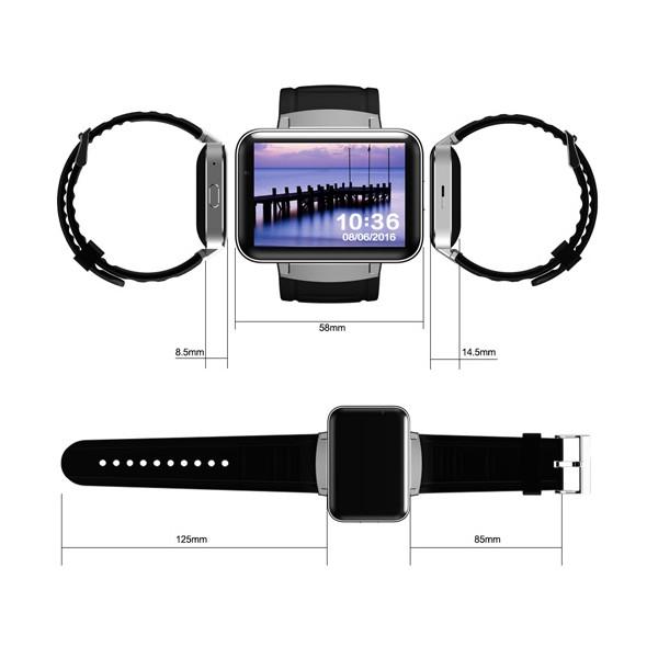 """Смарт фитнес часовник - KOBWA DM98 СИМ карта, камера, 2.2"""" HD IPS LCD екран SMW7 14"""