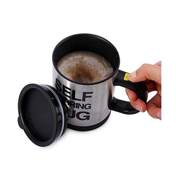 Саморазбъркваща се термо чаша за капучино кафе чай или горещ шоколад TV54 8