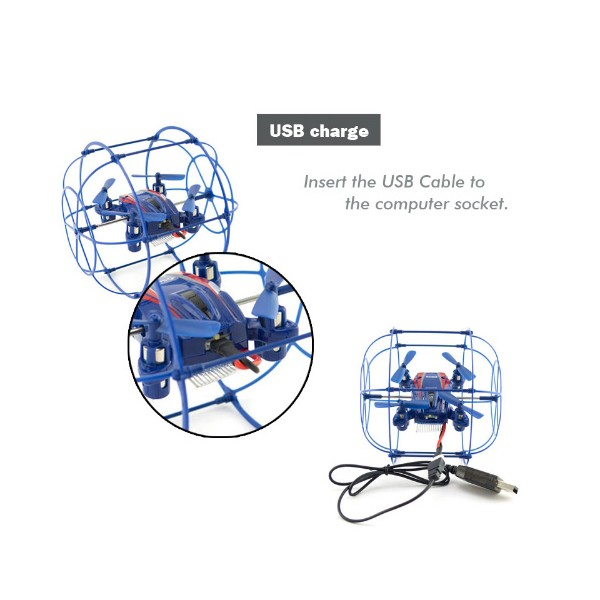 Квадрокоптер Sky Phantom - 2.4G RTF Mini UFO RC 10