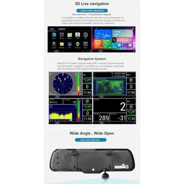Видеорегистратор с Android OS 4.4.2 Датчик за движение Автоматичен презапис -8Mpx 6