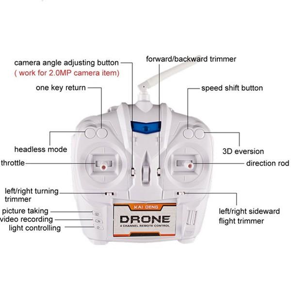 Квадрокоптер - Кай Дън K60 с камера и Led светлини 7